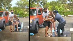 Wonderlijke beelden: camera aan deurbel filmt hoe vrouw bevalt op parking van ziekenhuis