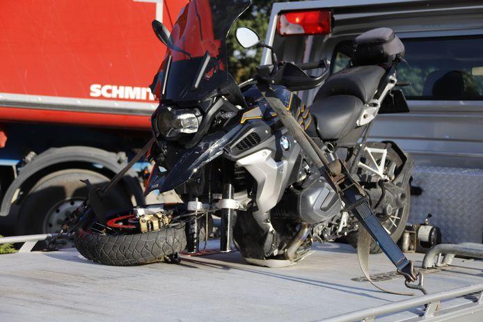 De motor raakte zwaar beschadigd.