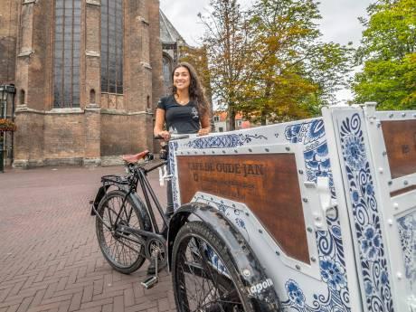 In Delft wordt huisvuil versleept met 'de mooiste fiets van Nederland'