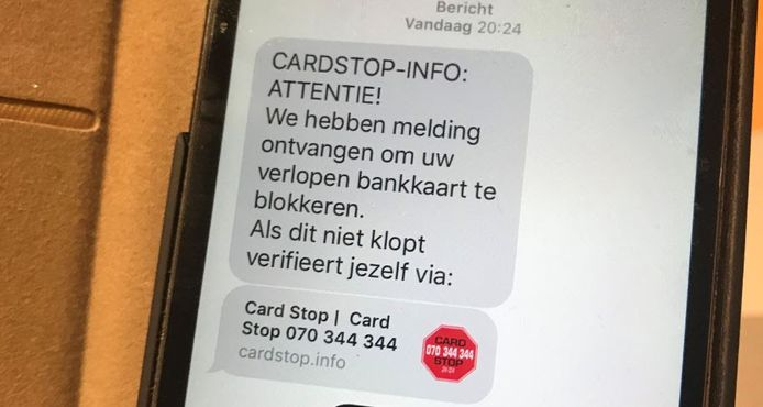 Geef nooit je pincode of andere bankcodes door via telefoon, mail, sms of sociale media.