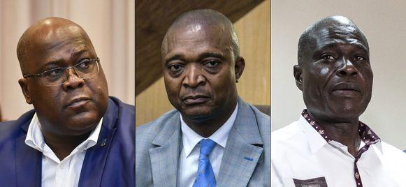 Félix Tshisekedi, Emmanuel Ramazani Shadary en Martin Fayulu streden om het presidentschap.