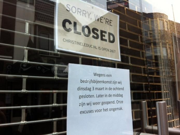 Het filiaal in Ede was dinsdag al gesloten.