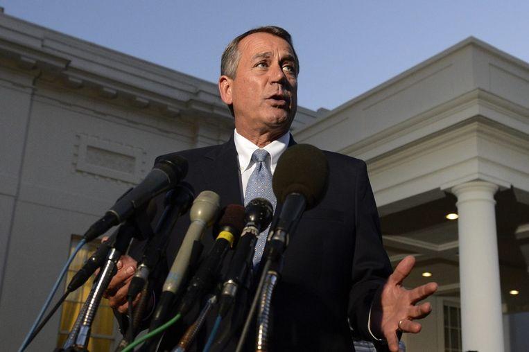 John Boehner, voorzitter van het Amerikaanse Huis van Afgevaardigden. Beeld epa