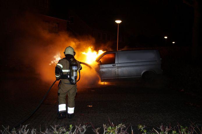 Autobrand in Drunen