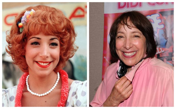 Didi Conn in 'Grease', en de actrice nu.