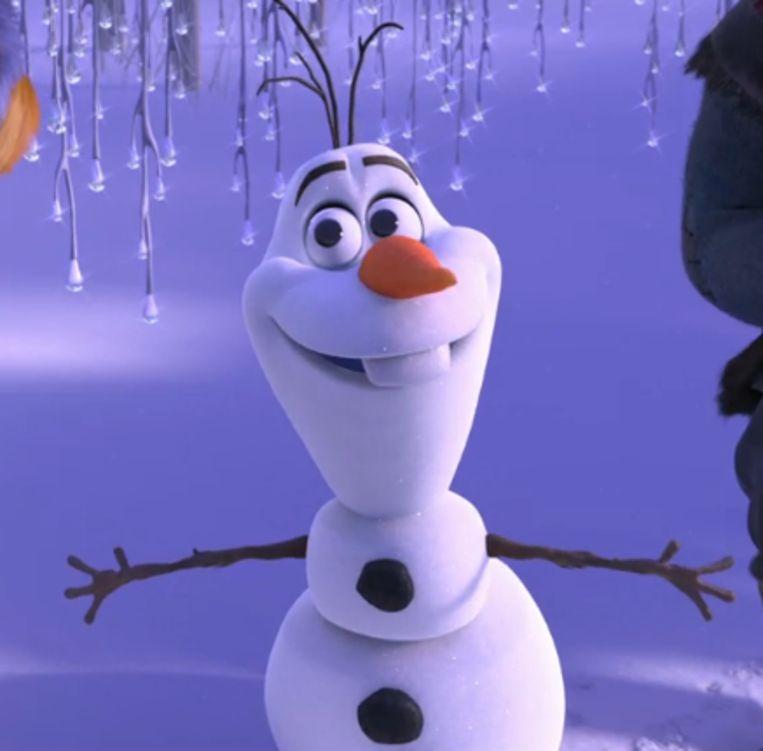 De sneeuwman Olaf in 'Frozen'.