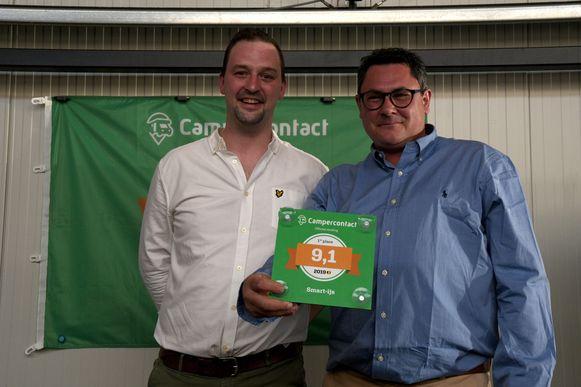 Winnaars Kevin Vanbelle en Patrick Van Lerberghe van Smart-ijs
