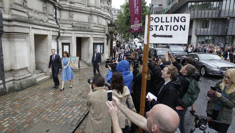 David Cameron en zijn vrouw Samantha Beeld ap