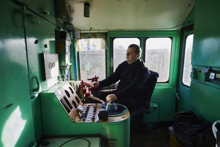 De trein met de geborgen wrakstukken van vlucht MH17 Beeld anp