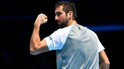 Cilic verslaat Isner op ATP Finals, Djokovic zeker van halve finales