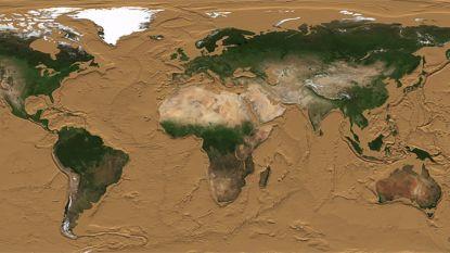 Nieuwe NASA-beelden tonen hoe de wereld er zou uitzien als alle oceanen opdroogden