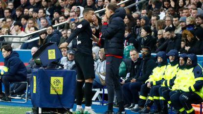 Mbappé bijzonder misnoegd naar de kant bij 5-0 voorsprong, Neymar toont zich met roze kapsel en shirt van Kobe Bryant