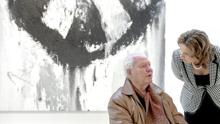 De burgemeester van Amstelveen en kunstenaar Armando. Beeld ANP