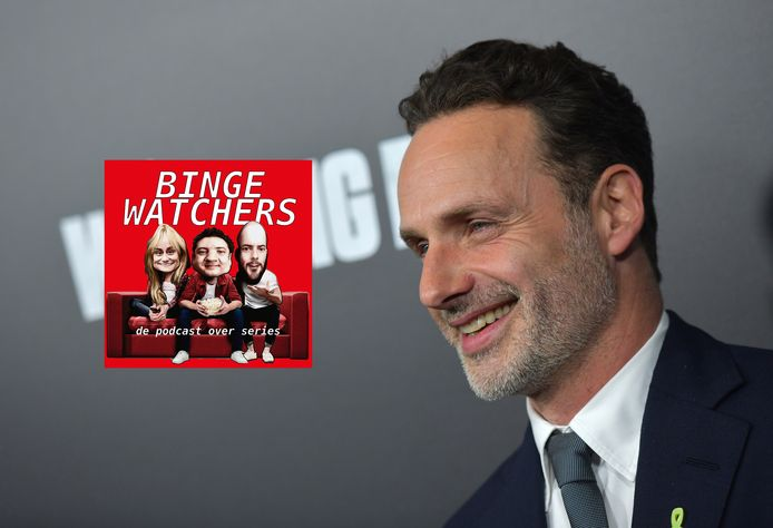 Hoofdrolspeler Andrew Lincoln (Rick Grimes) van The Walking Dead. Hier bij de première van seizoen 9. Inmiddels is Lincoln niet meer te zien in de serie.