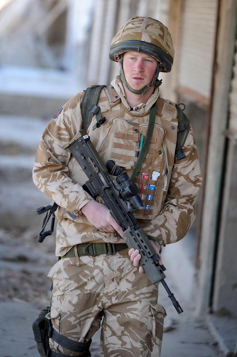 Harry in Afghanistan, 2008. Beeld AFP