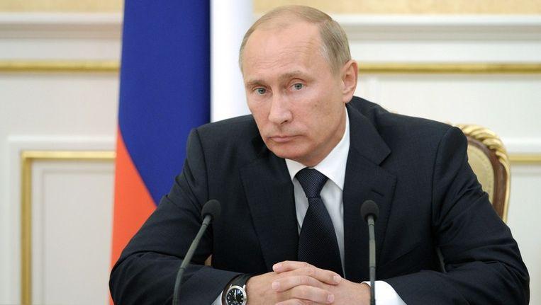 Putin stond voorheen aan het hoofd van de geheime dienst. Beeld afp