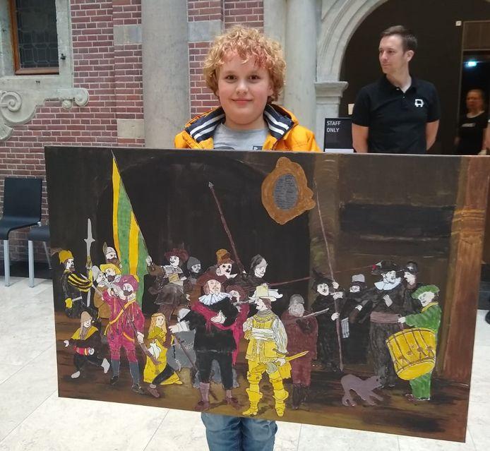 Wies Poorthuis met Noordijkse Rembrandt