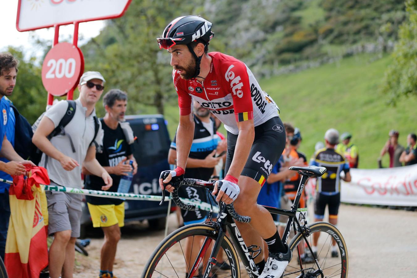 Thomas De Gendt in actie in de Vuelta.
