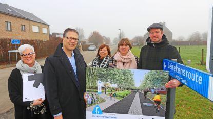 Populaire Leirekensroute wordt fietssnelweg van 4 meter breed (maar voorlopig alleen in Merchtem)