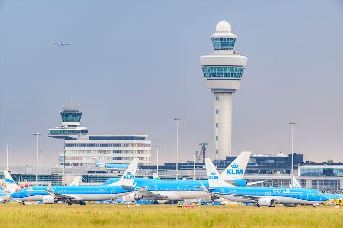 Luchthaven Schiphol op een minder zonnige dag