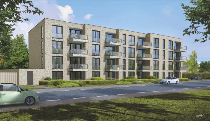 Het plan Prinsenrijck met 36 appartementen aan de Vijverstraat in Prinsenbeek