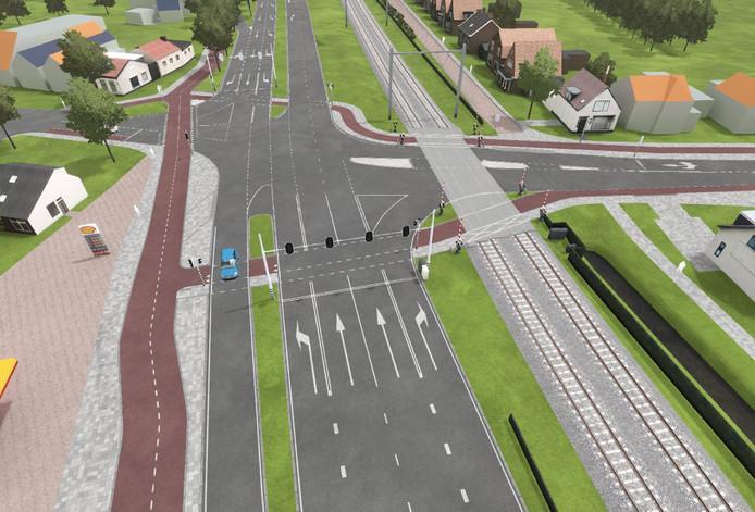 Impressie van de toekomstige situatie aan de Patijnweg.