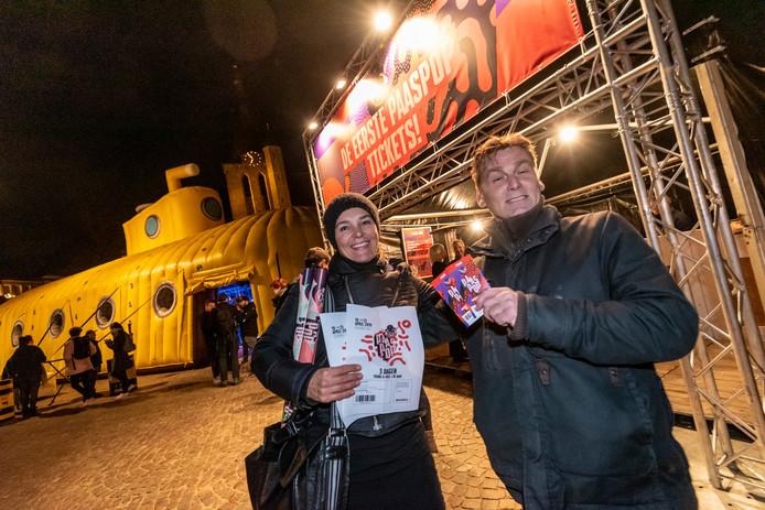 Paaspopfans kunnen tijdens de Launchparty op de Markt van Schijndel de eerste tickets voor de volgende editie kopen.