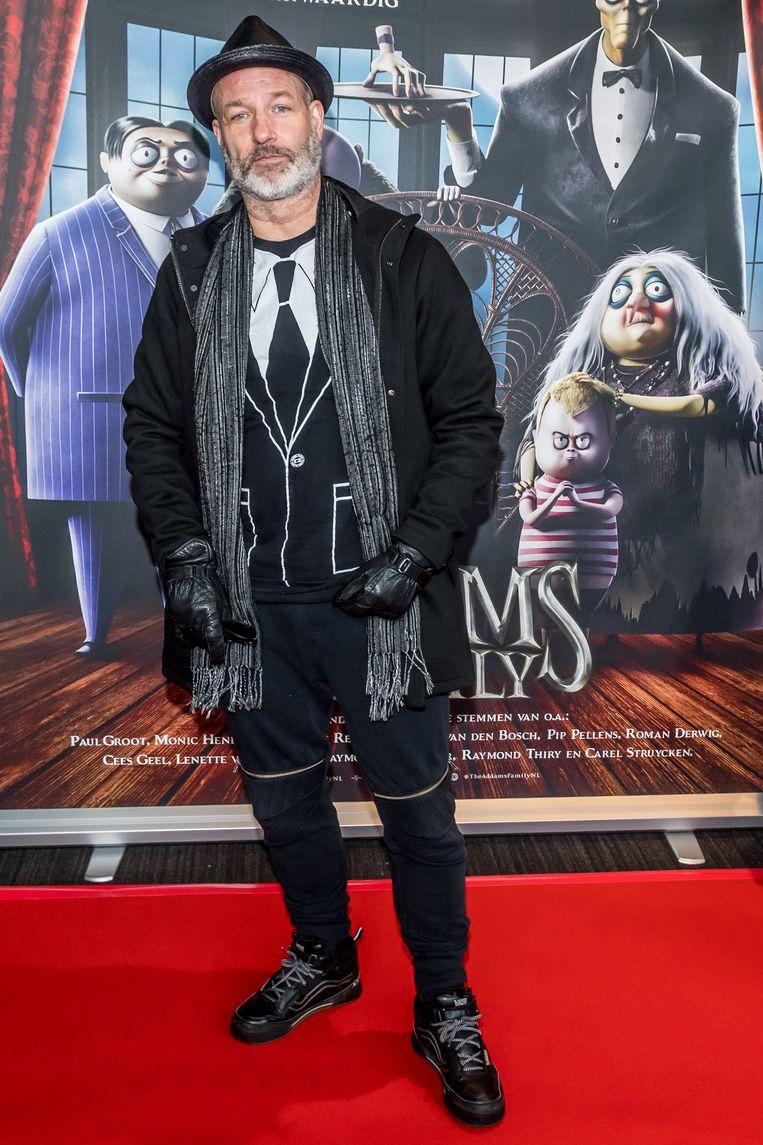 Eddy Zoey tijdens de inloop bij de filmpremière The Addams Family in Pathe Arena te Amsterdam. Beeld Hollandse Hoogte / Patrick Harderwijk