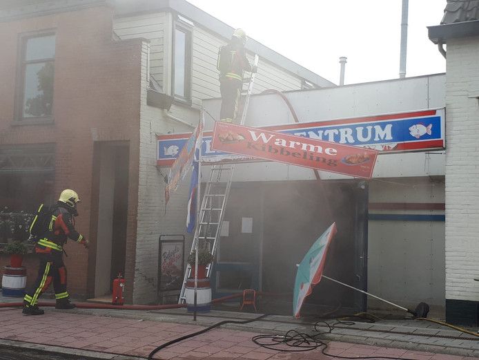 Bij Vers Viscentrum in Boskoop is brand uitgebroken.