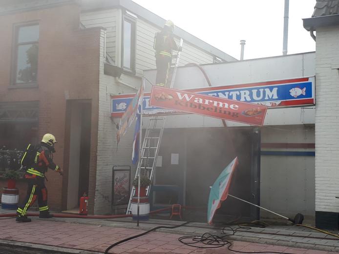 Bij Vers Viscentrum in Boskoop is brand uitgebroken.