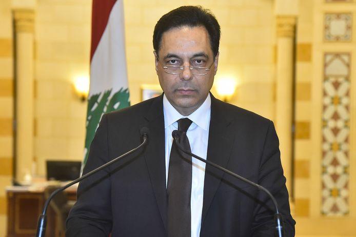 De Libanese premier Hassan Diab kondigde het aftreden van zijn regering aan in een korte televisietoespraak.