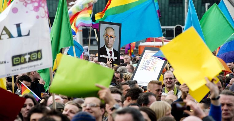 Protesten in Amsterdam Beeld ANP
