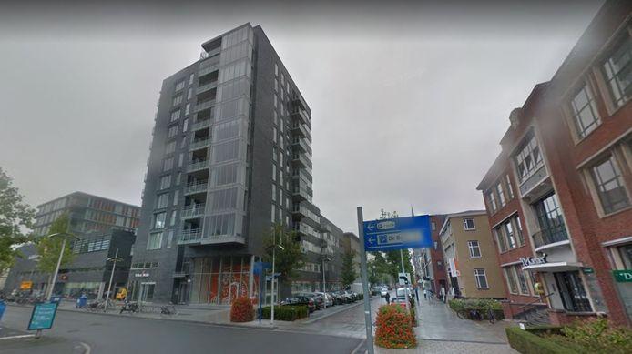De plek waar het gebeurde, ter hoogte van de ING in het centrum van Hengelo