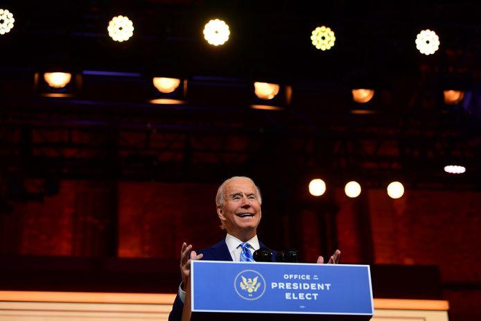 Le président élu Joe Biden prononce un discours de Thanksgiving à Wilmington - 25 novembre 2020.