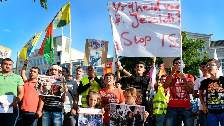 Een eerdere Anti ISIS Demonstratie in Arnhem Beeld ANP