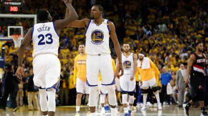 Durant en Curry meteen op de afspraak tegen Portland