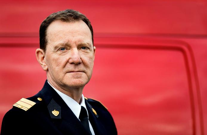 Vertrekkend Brandweercommandant Leen Schaap.