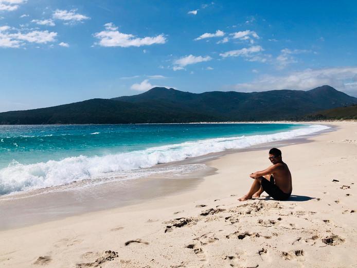 Bas aan het genieten in Australië