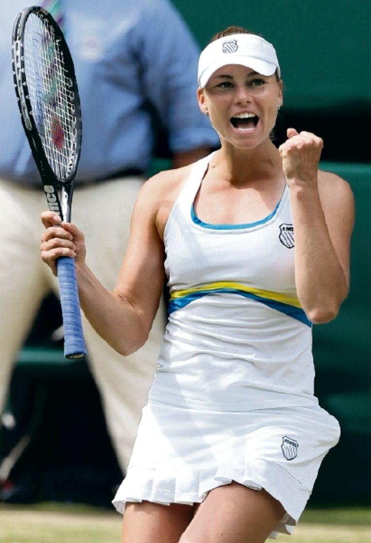 Vera Zvonareva won in de halve finale met 3-6 6-3 en 6-2 van de Bulgaarse Tsvetana Pironkova. (FOTO AP) Beeld