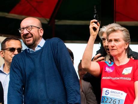 Gehoorschade Belgische premier door startschot wedstrijd