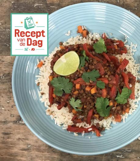 Recept van de dag: Linzenchili met guacamole en bruine rijst