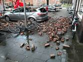 Gevel in Edisonstraat Utrecht laat los en valt op auto: 'Die was er wel heftig aan toe'