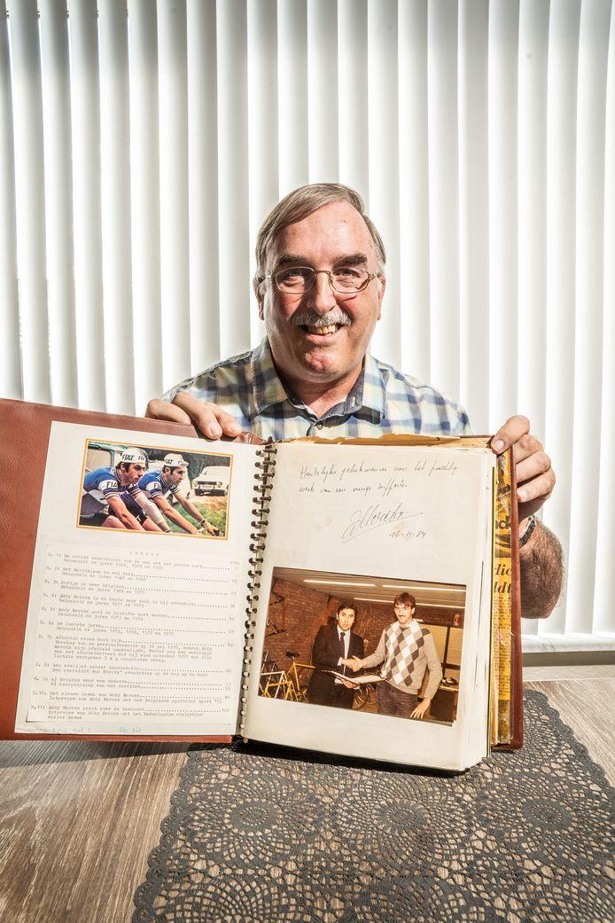 Jan Houterman voor de rubriek mijn dierbare. een gesigneerd boek door Eddy Merckx