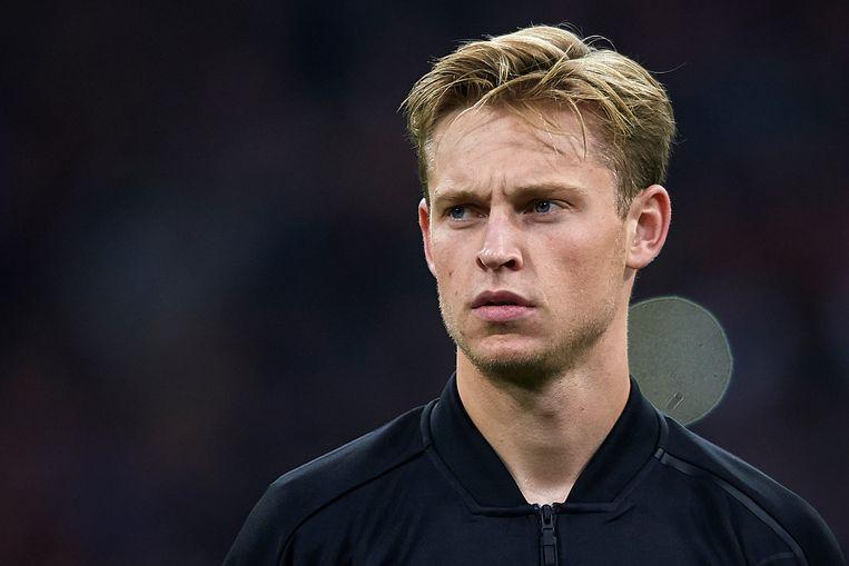 Frenkie de Jong voorafgaand aan een Champions League-duel. Beeld Getty Images