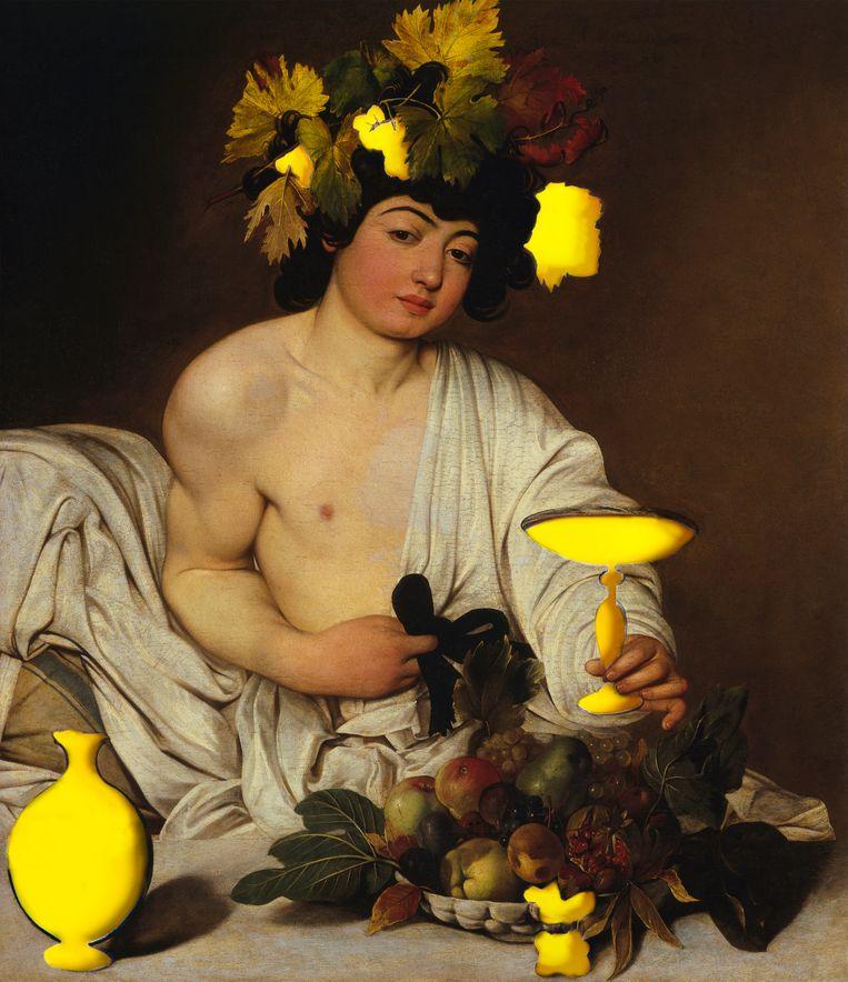 Caravaggio's Bacchus (1589). Beeld Getty/bewerking Studio V
