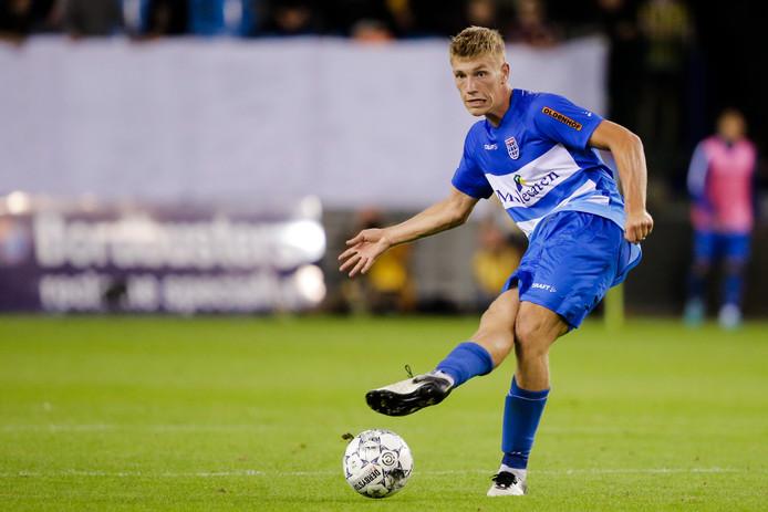 Zian Flemming in actie namens PEC Zwolle.