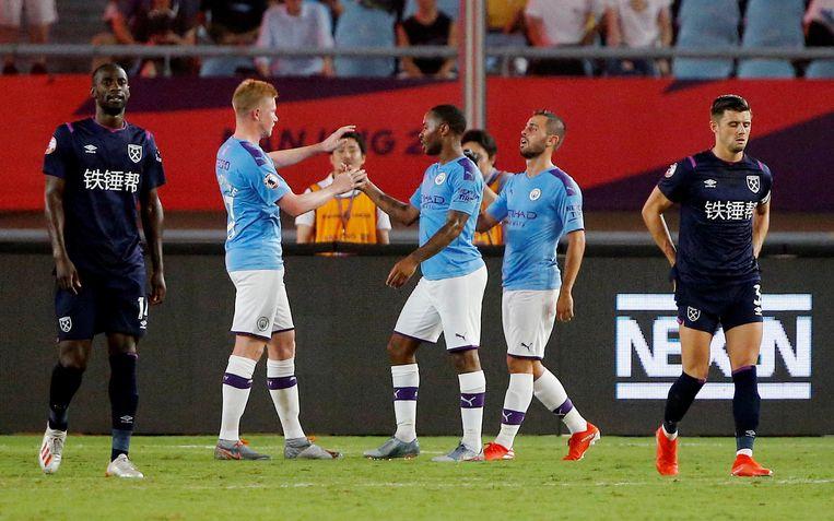 De Bruyne gaf de assist op de 4-1 van Sterling.