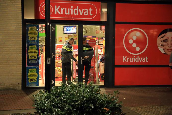 Overval op Kruidvat in Someren. (foto Bert Jansen)