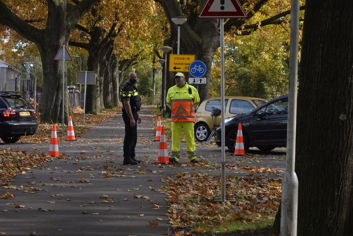 BREDA - Verkeersregelaar geïntimideerd bij teststraat GGD in Breda.