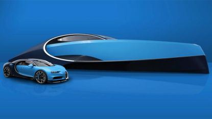 Nieuw speeltje voor superrijken: Bugatti ontwerpt compact luxejacht